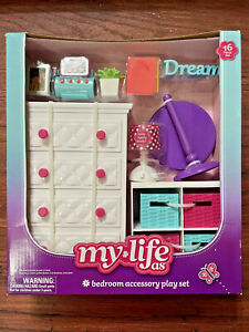My Life As Bedroom Accessory Play Set American Girl Size Doll House Furniture