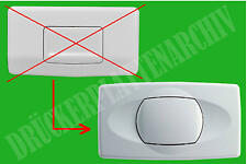 ISOSAN Nr.1+Nr.2 Drückerplatte weiß Betätigung Bedienplatte Auslösung Spülkasten