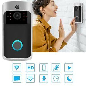 Wireless Video Doorbell Camera WiFi Smart Door Ring HD Intercom Bell Security