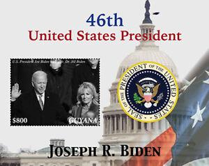 Guyana 2021 - Joe Biden 46th President of America, USA - Souvenir Sheet - MNH