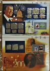1976 United States Uncirculated Mint Set Panels - Unc and Silver Proofs - PCS