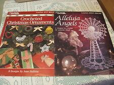 Leisure Arts Alleluia Angels / Crochet Christmas Ornaments 2 Pattern Booklets