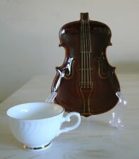 VIOLIN CELLO Tea Coffee Cup & Saucer set x 5 japanese SUISEN pottery ware