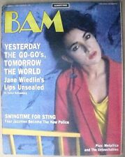 BAM BAY AREA MUSIC MAGAZINE #218 NOVEMBER 1, 1985 (FN+) JANE WIEDLIN THE GO-GO'S