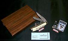 Schrade Migratory Bird Knife 1985 USA Limited Edition Scrimshaw Set W/Packaging