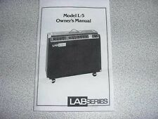 Lab Series Amplifier L5, L7, L9 manual.