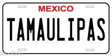 Tamaulipas Aluminum Novelty Car License Plate