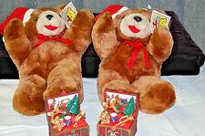 Two Plush Christmas Justen Bears NWT - X545