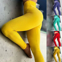 Women PUSH UP High Waist Trousers Gym Leggings Fitness Sports Jogging Yoga Pants