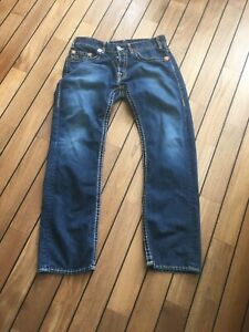 True Religion LOGAN SUPER T Mens  Vintage Jeans W36 L32.5  Blue Straight Reg