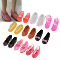 9 Pairs Single Shoes 1/6 BJD Smart Doll Shoes Slope Heels for Blythe Takara