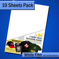 T shirt transfer paper for Dark Fabric - A4 - 10 Sheet Pk - For INKJET printers