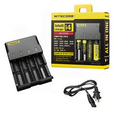 Nitecore i4 4-Slot Smart Portable Universal Li-ion/Ni-MH/Ni-Cd Battery Charger