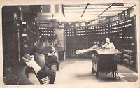 WWI Era~Candlestick Telephones on Desk~Control Room~Levers Panel~3 Men~1917 RPPC