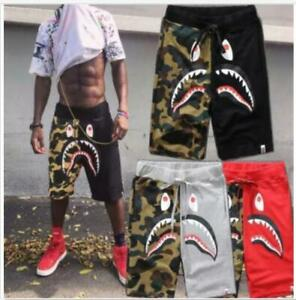 2020 Unisex Shorts Japan Bape A bathing ape Shark Jaw Icon Pattern Pants Black !