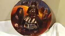 Star Wars 1997 Hamilton Collection Heroes & Villains Plate ~Darth Vader~ w/ Coa
