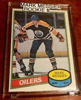 Mark Messier 1980-81 O-Pee-Chee Rookie Card MINT GRADEABLE OILERS HALL OF FAME