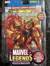 marvel legends Human Torch Johnny Storm figure Fantastic four toybiz Series 2 II