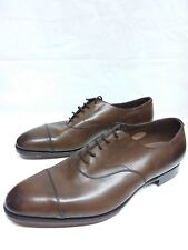 EDWARD GREEN CHELSEA CAP-TOE SHOE DARK OAK ANTIQUE CALFSKIN $1420 11.5E