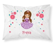 Personalised Children Princess Pillow Case Printed Gift Custom Print New 102