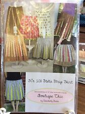 "BOUTIQUE CHIC #103 ""STELLA STRIP SKIRT"" BY SERENDIPITY STUDIOS-HIP SIZE 32-56"