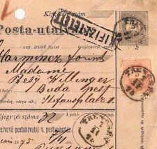PP195 1875 SLOVAKIA Austria-Hungary *TRENCSEN* Postal Stationery Receipt Card