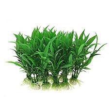 Fish Tank Aquarium Ornament Plants, Pack of 5pcs Green LW