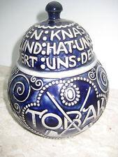 Tabaktopf MERKELBACH Jugendstil 2189 Deckeldose Keramik Rauchutensil alt antik