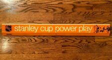 COLECO STANLEY CUP POWER PLAY TABLE HOCKEY TIN SIGN GAME SIDE PANEL EAGLE TOYS