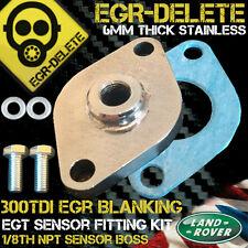 LANDROVER 300TDI Discovery EGT sensor probe BOSS EGR blanking plate not gauge