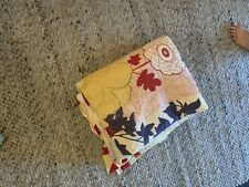 Damaged Anthrpologie Floral Quilt Twin