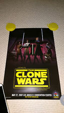 Rare The Clone Wars Star Wars Celebration IV Poster