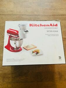 KitchenAid KSMSFTA Stand Mixer Sifter Scale Attachment USED ONCE Good Condition