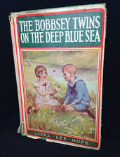 Vintage 1940 The Bobbsey Twins On The Deep Blue Sea Hardcover Book Dust Jacket