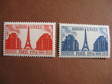 FRANCE neufs  n° 911-912  Nations Unies (1951)