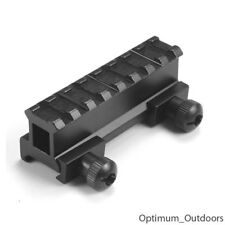 Weaver Picatinny QD CANNOCCHIALE Hi Riser Mount Rail 20 mm 8 slot Caccia AIRSOFT
