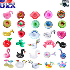 Inflatable Drink Holders Cup Pool Water Float Party Flamingo Doughnut Watermelon