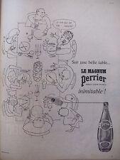 PUBLICITÉ DE PRESSE 1962 LE MAGNUM PERRIER 100% NATUREL - ADVERTISING