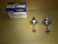 2 x Ring H4 472 Halogen Car Headlight Headlamp Bulb 12v 60/55w RT472 pack of 2