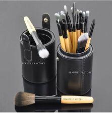 18 Pezzi Nuovo di alta qualità Pennelli trucco Set con spazzola in pelle nera stand