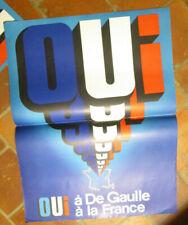 Affiche électorale présidentielle propagande Général DE GAULLE OUI à la France