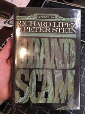 Grand Scam By Richard Lipez Peter Stein 1st Edition Rare Hiest Thriller Hcdj