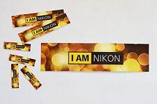 "I am NIKON 5.5"" BOKEH Vinyl logo emblem custom print camera lens sticker"