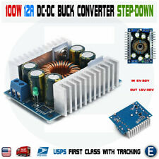 100W DC-DC High Power Low Ripple 12A Adjustable Step-Down Buck Supply Converter