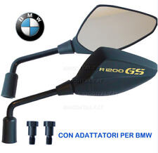 2 SPECCHIETTI ORION 1,50mm NERO SOFT per BMW R1200GS ADV 2011 -  2013 LOGO ORO