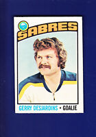 Gerry Desjardins 1976-77 O-PEE-CHEE OPC Hockey #230 (EXMT+) Buffalo Sabres