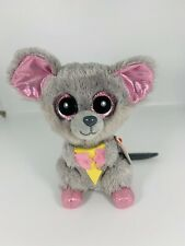 """TY Beanie Boo's Squeaker Mouse Plush 6"""" 2015 With tag"""