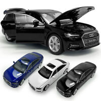 1:32 Scale Audi A6 Sedan Model Car Alloy Diecast Gift Toy Vehicle Light Kids