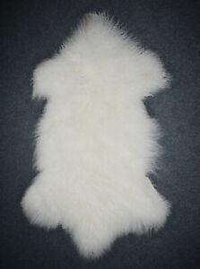 60X90CM 100% Genuine Mongolian Sheepskin Lamb Wool Fur Rug Hide Pelt Plate Throw