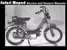 SAFARI MOPED OPERATION & ENGINE MANUALs 90pg for Scooter Tuning Service & Repair